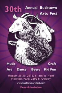30th Annual Bucktown Arts Fest - poster